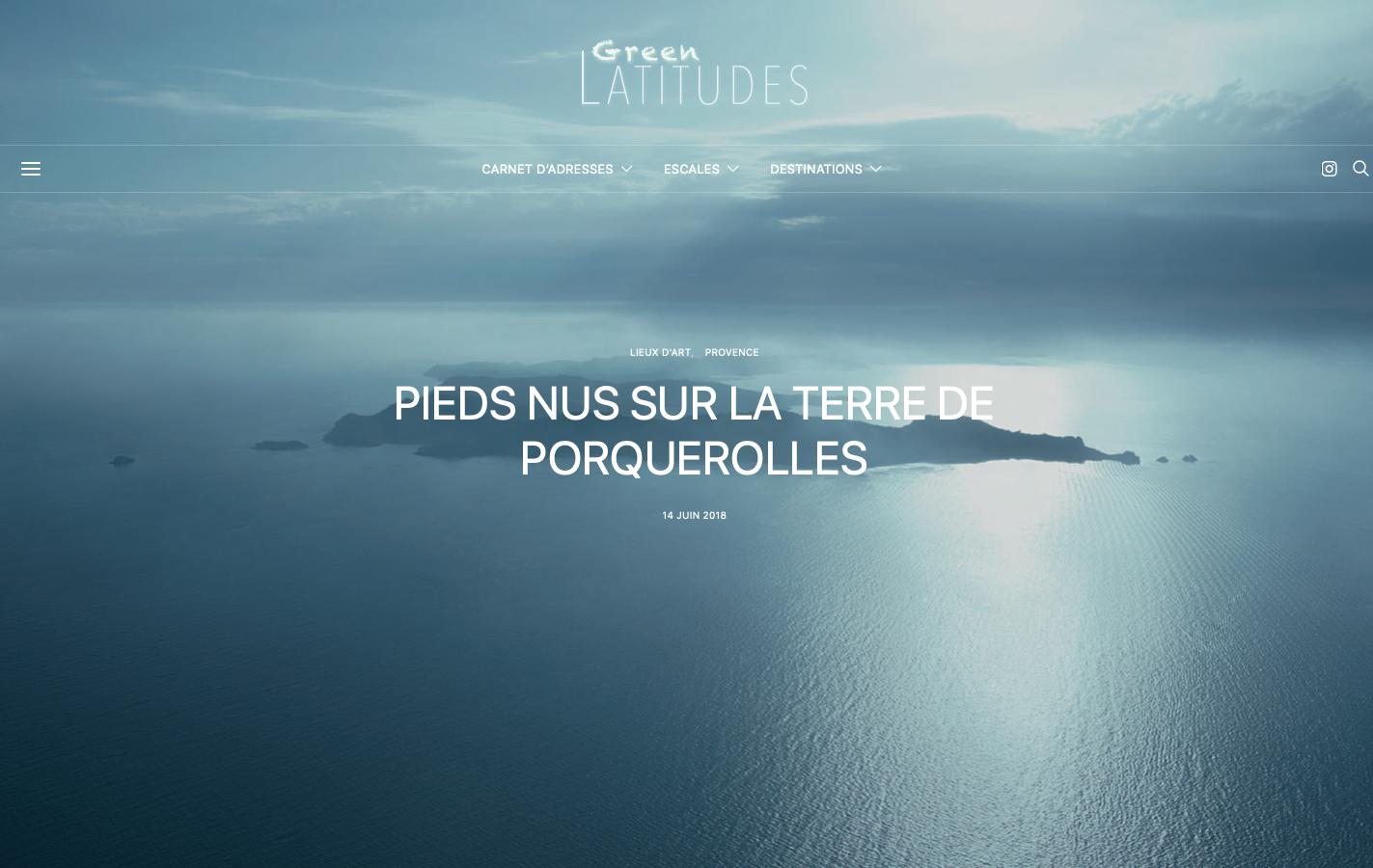 Conseil en création de site - Green Latitudes - Article Porquerolles - In blossom