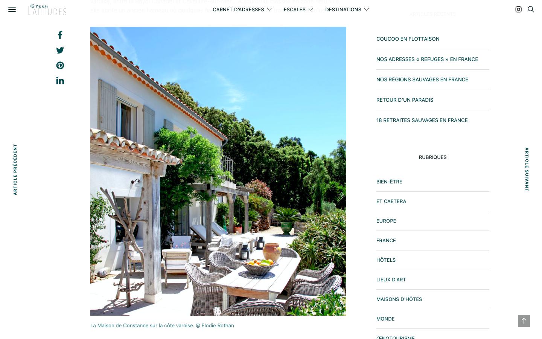Conseil en création de site - Green Latitudes - Maison d'hôte - In blossom