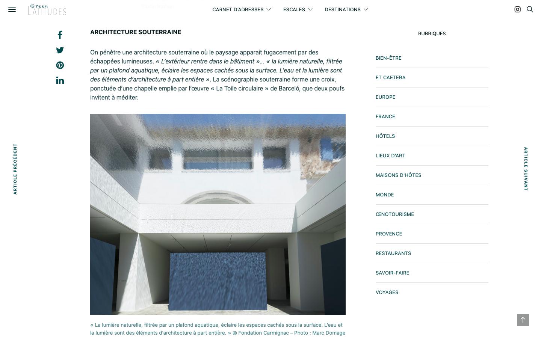 Conseil en création de site - Green Latitudes - Projet archi - In blossom