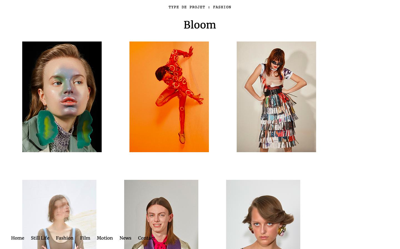 Site vitrine Bloom Paris - Consulting - Fashion - In blossom