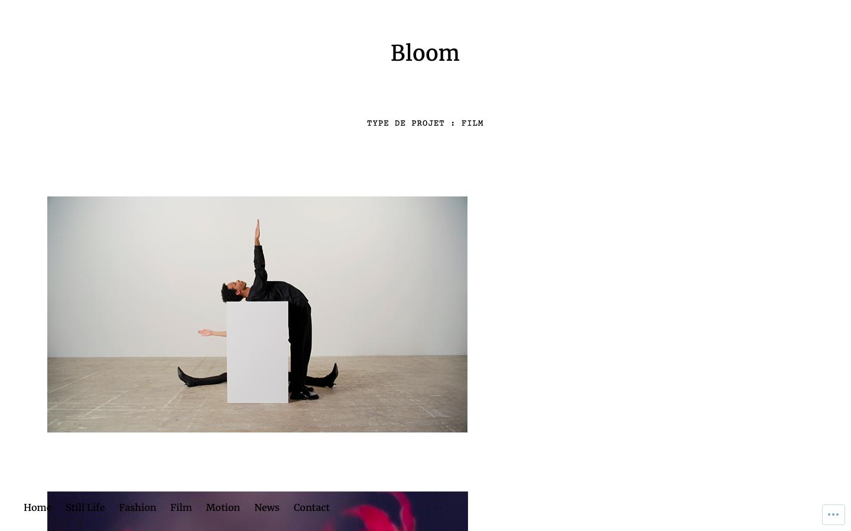 Site vitrine Bloom Paris - Consulting - Film - In blossom