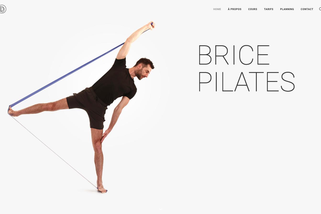 Création de site sur Wordpress - Brice Pilates - Accueil - In blossom