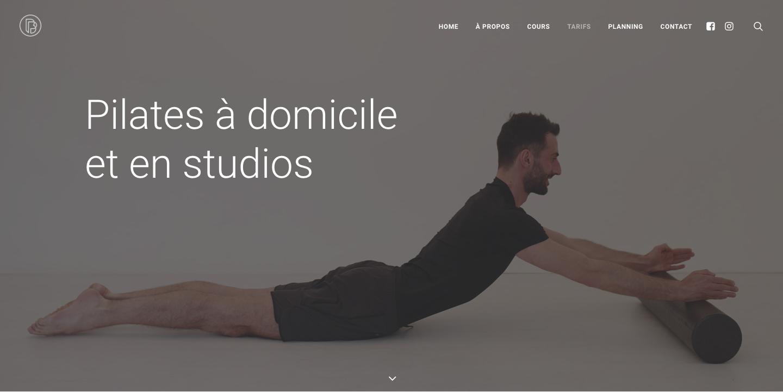 Création de site sur Wordpress - Brice Pilates - Cours à domicile et en studios - In blossom