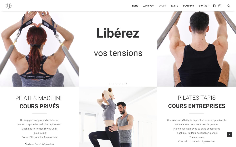 Création de site sur Wordpress - Brice Pilates - Cours de Pilates - In blossom