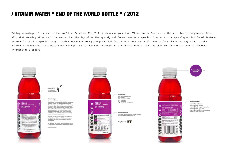 Création de site Céline & Clément Mornet-Landa - Vitamin Water - In blossom