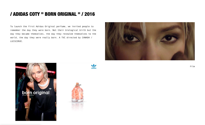 Création de site Céline & Clément Mornet-Landa - Adidas Coty - In blossom