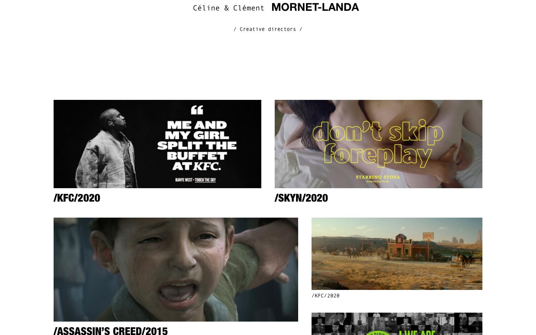 Création de site Céline & Clément Mornet-Landa - Accueil 1 - In blossom