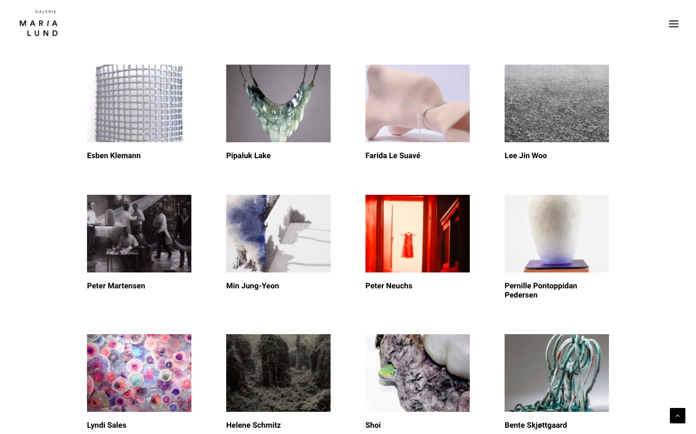 Refonte de site Galerie MariaLund - Les artistes - In blossom