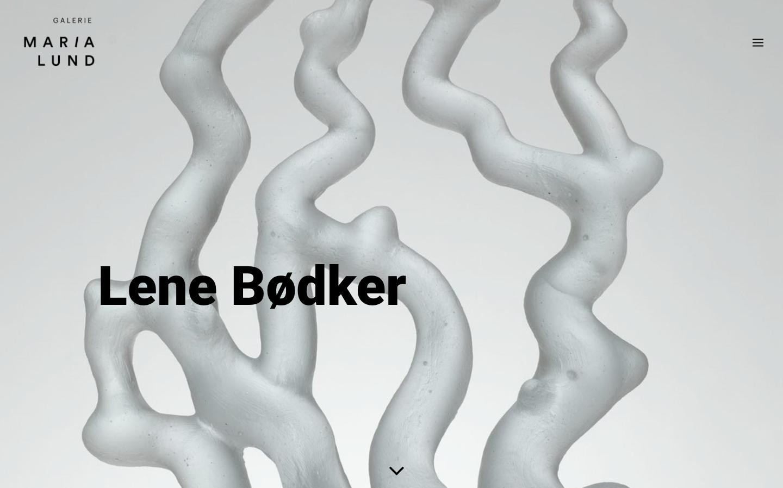 Refonte de site Galerie MariaLund - Len Bodker - In blossom