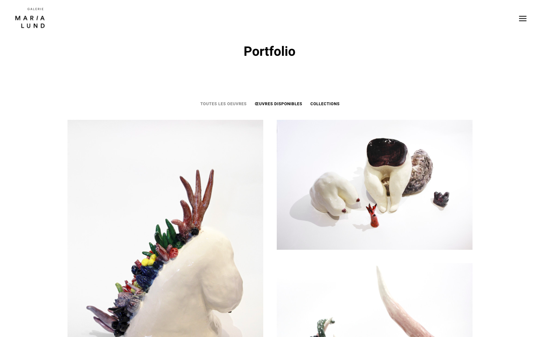 Refonte de site Galerie MariaLund - Portfolio - In blossom
