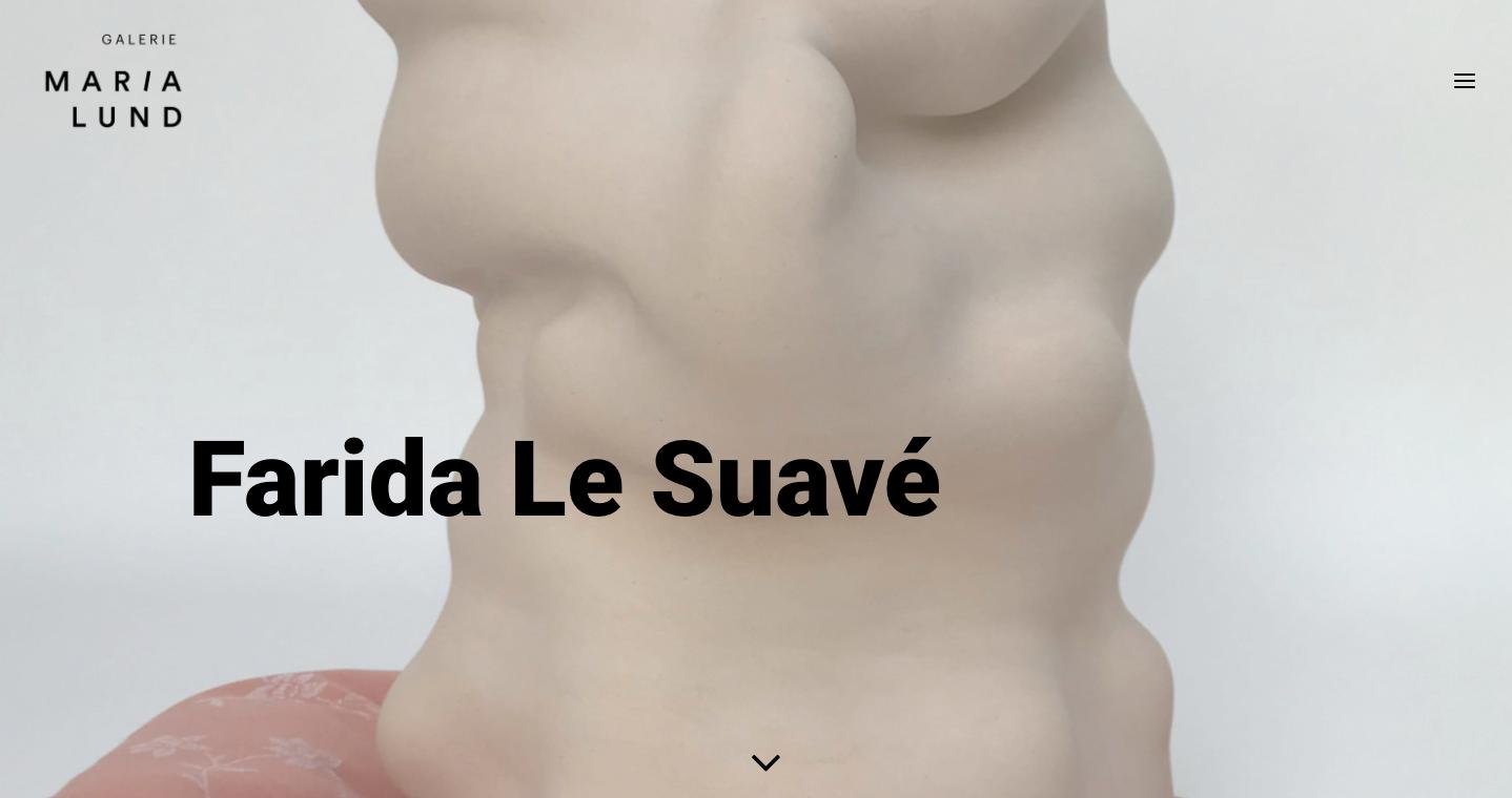 Refonte de site Galerie MariaLund - Farida Le Suavé - In blossom