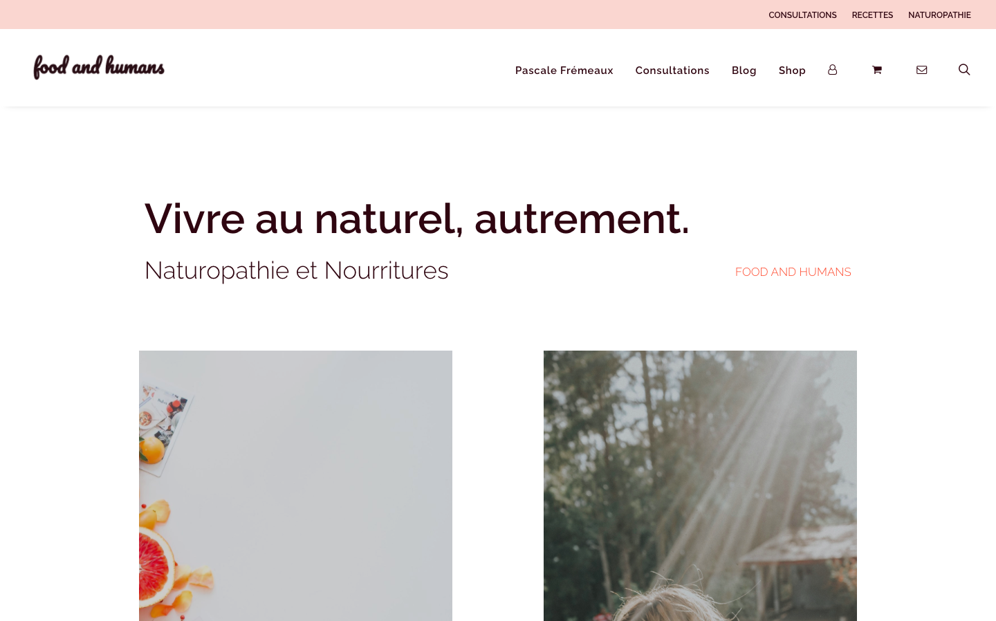 Création de site e-commerce - Food and Humans - Accueil - In blossom