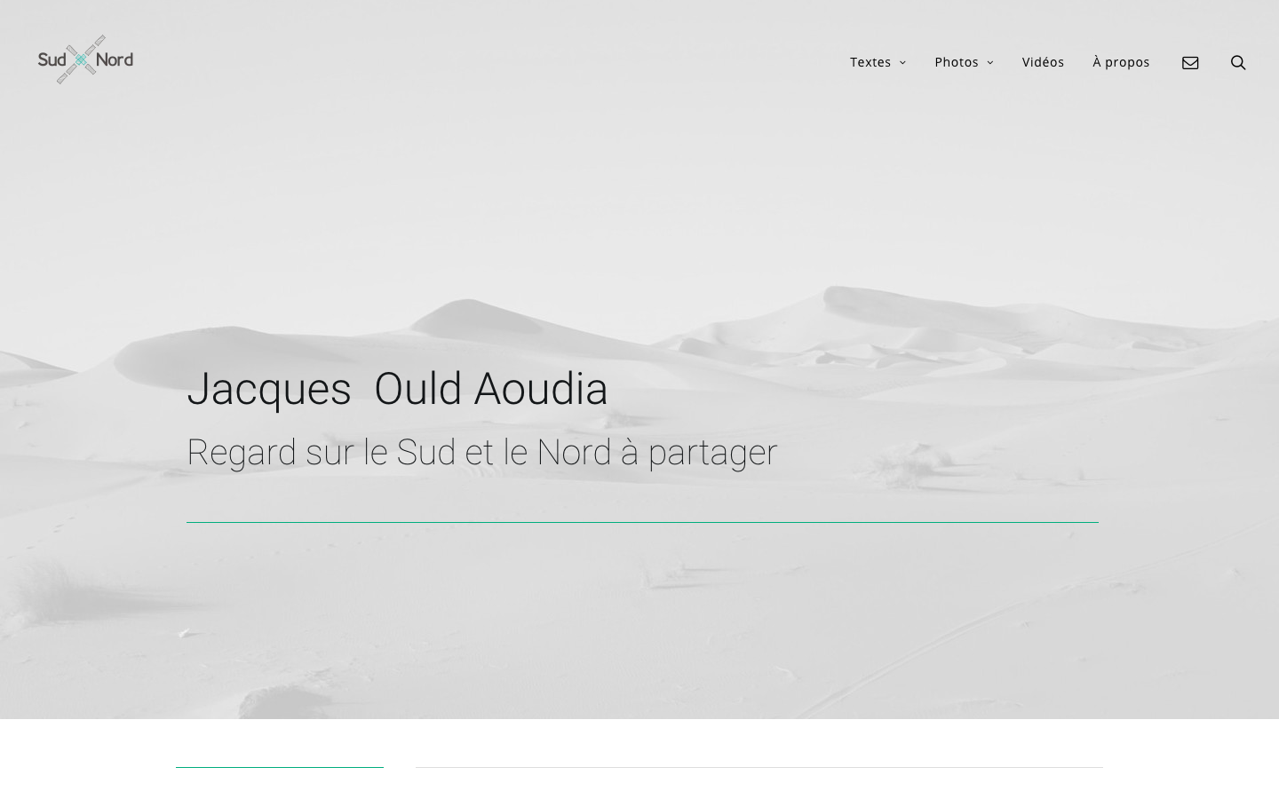 Refonte de site Jacques Ould-Aoudia - Accueil - In blossom