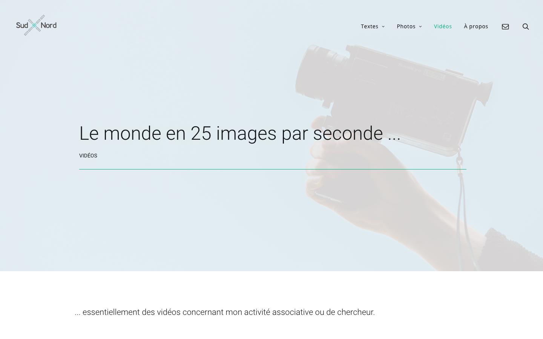 Refonte de site Jacques Ould-Aoudia - Les vidéos - In blossom
