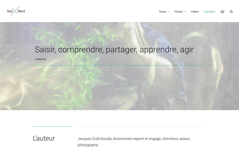 Refonte de site Jacques Ould-Aoudia - À propos - In blossom