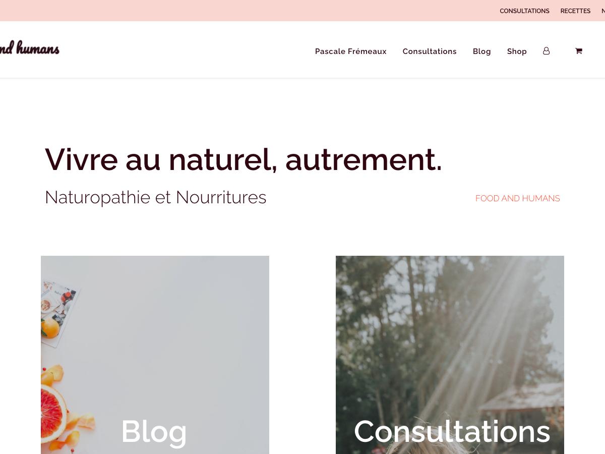Création de site e-commerce - Food and Humans - Accueil vignette - In blossom