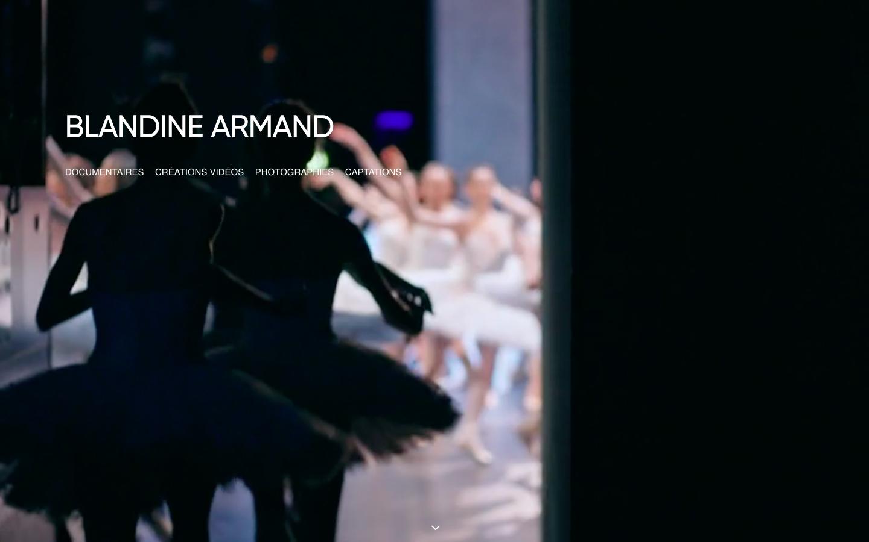 Création de site Blandine Armand - home vignette - in blossom
